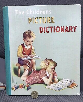 BEAUTIFUL VINTAGE 1960s CHILDREN'S PICTURE DICTIONARY BOOK HB ENGLAND EXC!!!