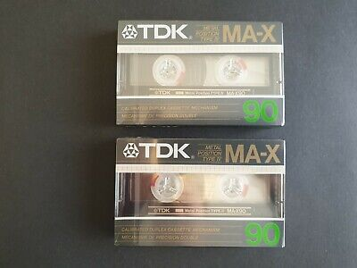 2 x TDK MA-X 90 Type IV Metal Position Blank Audio Cassette Tapes