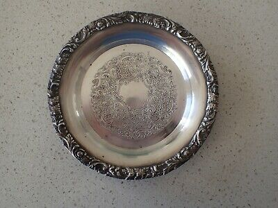 Vintage small tray Reproduction Old Sheffield Plate Hardy Bros England no. 12