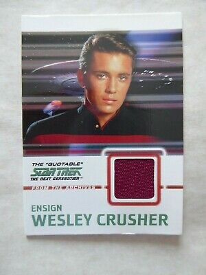 Star Trek TNG Quotable Costume Card C9 Wesley crusher- Red cloth