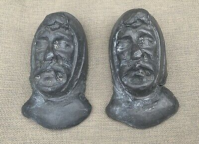 Two Vintage Unusual Lead Castings Or Moulds  Of Medieval Type Characters