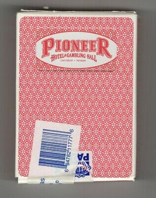 Pioneer Hotel & Gambling Hall Laughlin Casino Deck of Cards Red Sealed