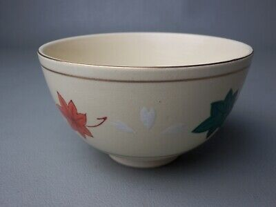 15Tc Japanese Vintage Signed Kyo Ceramic Chawan Bowl Tea Ceremony Free Shipping