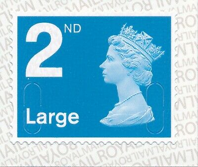 "2019 ""M19L""-""MFIL"" 2nd LARGE Blue -Pattern Shift- SBP2i - Single Stamp fm Bk x 4"