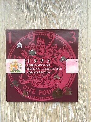 1993 United Kingdom Brilliant Uncirculated Coin Collection | rare dual date 50p