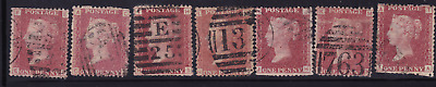 plate-113 SG43 1D Penny Red GB Victorian postage stamp