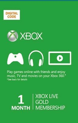 Xbox Live Gold 1 Month Worldwide Membership Code (2x14 Day), Xbox One 360