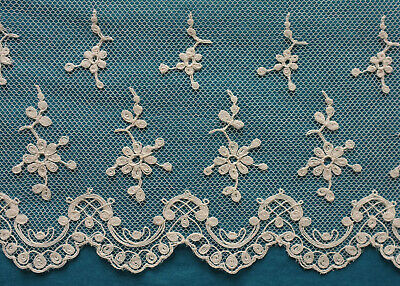 480 cms antique machine lace  border