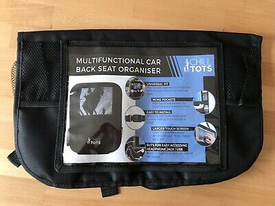 "Chill Tots Back Seat Car Organiser with 10.1"" iPad Tablet Holder Kids Storage"