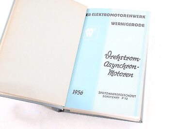 Old Compartment Book Phase Asynchronous Motors Electric Wernigerode Catalog