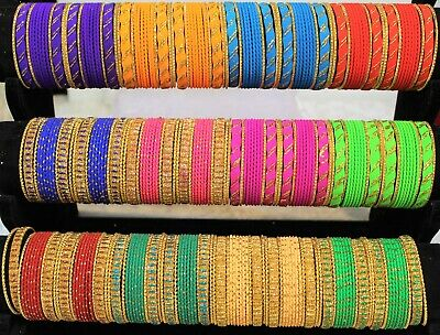 Indian Pakistani Kids Metallic Bangles With Gold Colour 24 Chudiya Girls chudi