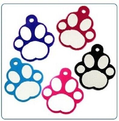 PAW Shaped Pet Tags ENGRAVED