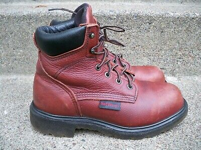 dd446c7b9d7 RED WING USA 2406 Ankle Boots Brown leather Steel toe Work Safety ...