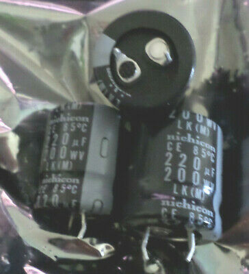 Qty 4 220uf 220 uf 200v 85c Radial Snap-in Capacitor *** NEW ***