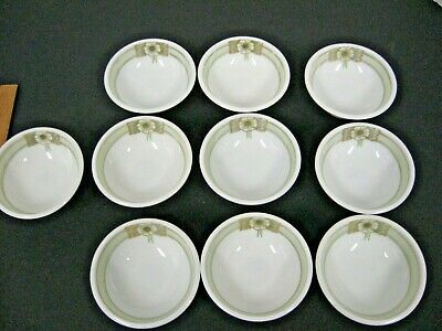 Antique vintage Art Deco Small footed BERRY BOWL SET Hand-painted RS GERMANY 10P