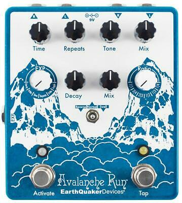 EarthQuaker Devices Avalanche Run V2 Delay Reverb Guitar Effects Pedal