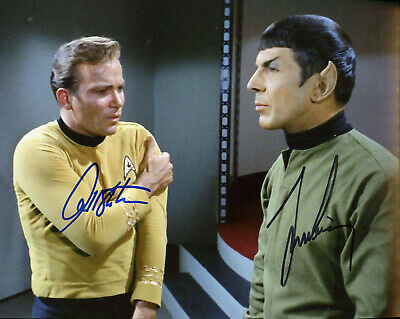 Willaim Shatner & Leonard Nimoy Signed Photo Color In Person