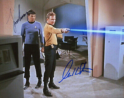 Leonard Nimoy & William Shatner  Signed Photo Color In Person