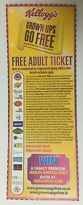 Alton Towers Sealife Thorpe Park Madame Tussauds 2 for 1 Entry Voucher 30.06.20