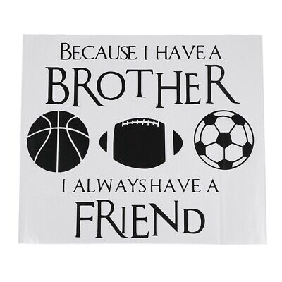20X(New Design Basketball Football Soccer PVC Wall Sticker Decal Brothers T6G8)