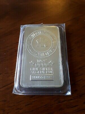 10 oz. .9999 FINE SILVER BAR ROYAL CANADIAN MINT SN:990554292
