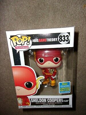 Funko Pop Sheldon Cooper as Flash Big Bang Theory Shared SDCC 2019 Convention