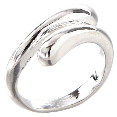 20X(Beauty and simplicity silver ring adjustable size adjustable unisex novelty