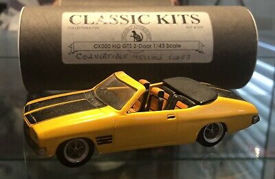 Dinkum Classics Holden HQ GTS Convertible - 1971 Yellow Black CODE 3  1:43 Scale