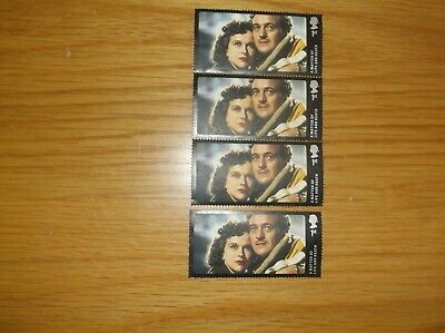 """Four """"A Matter of Life and Death"""" 1st  Class Stamps"""