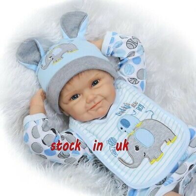 """18"""" Reborn Dolls Soft Silicone Lifelike Handmade Boy and Girl Gifts Toddler Toys"""