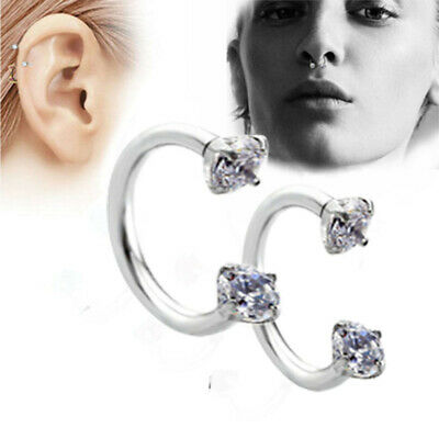 16G Surgical Steel Septum Hoop Ring For Nose Lip Ear Cartilage Piercing Jewelry