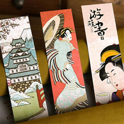 Lot 30pcs Cute Paper Bookmark Vintage Japanese Style Book Marks School Materials