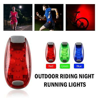 4pcs LED Safety Warning Lights Clip on Sports Dog Collar Bike Tail Lights #Z