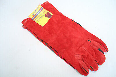 Leather Welders Gauntlets Polyester Lined Quality Welding Gloves Pack of 12 Pair