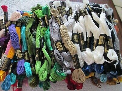 Dmc And Susan Bates Floss - Nice Array Of Colors - Lot Of 177 Skeins