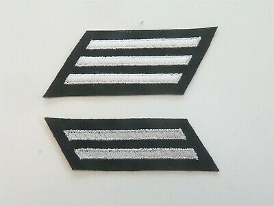 US NAVY GENUINE WW2 / WWII 8 and 12 YEAR SERVICE CLOTH BADGES / PATCHES