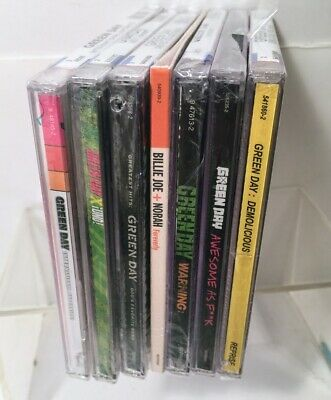 Lot 7 GREEN DAY CD SET Uno,Warning, Giod's Favorite Band DEMOLICIOUS - NEW