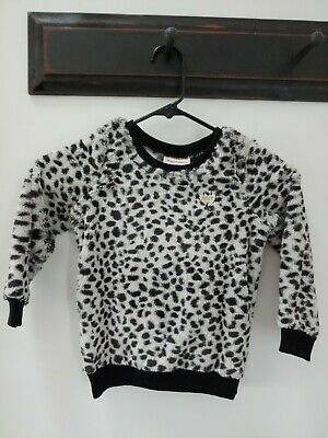 JUICY COUTURE Girls Long Sleeve Fleece Top Size 4