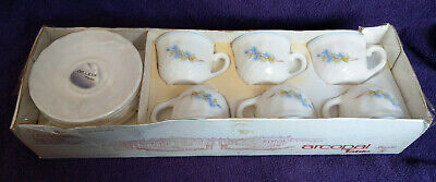 French Arcopal Cup & Saucer Tea Set - Inc 6 Tea Cups & 6 Saucers - New -Free P&P