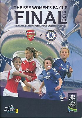 WOMENS FA CUP FINAL 2016 ARSENAL v CHELSEA MINT PROGRAMME