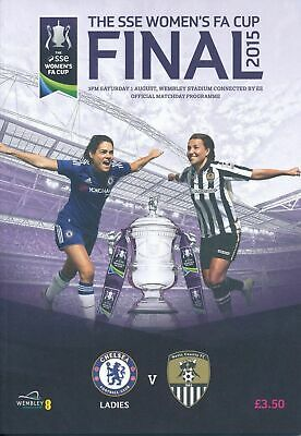 WOMENS FA CUP FINAL 2015 CHELSEA v NOTTS COUNTY MINT PROGRAMME