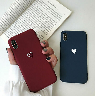 For Samsung S8 S9 S10 Plus Girls Cover Super Cute Love-Heart Shape Soft Case