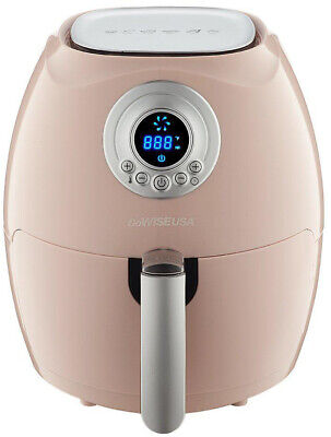 GoWISE USA 2.75 Qt. Air Fryer w/ Digital LCD Controls and Fry Basket, Pink/Blush