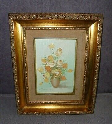 Vintage Original Signed Painting In Lovely Frame