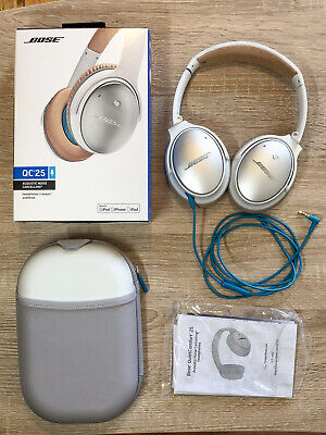 BOSE QC25 QuietComfort Noise Cancelling Over-Ear Headphones, White