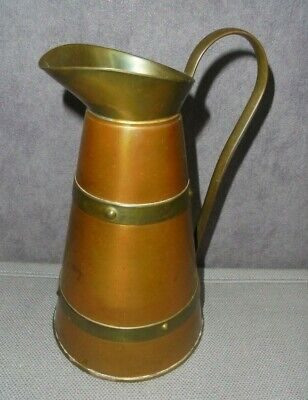 Arts And Crafts Copper And Brass Small Ewer Jug