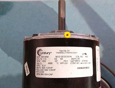 Century AO Smith 485 Blower Motor 1/20 1/35 HP PSC 1050 RPM 115V -FAST SHIP NEW!