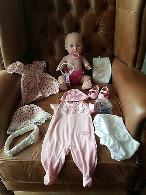 "Zapf Creation Baby Annabell ""Care For Me"" bathable  Doll + Extra's"