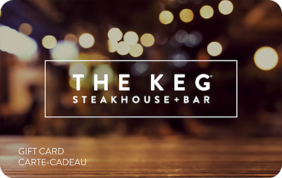 The Keg Steakhouse & Bar Gift Card $25, $50, or $100 - Email delivery