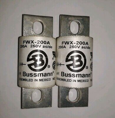 Lot of 2 BUSSMANN FWX200A 250A Used